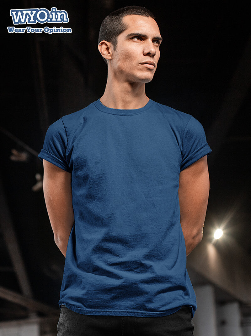 Plain Men's Tshirt - Navy