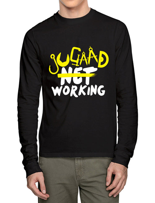 Net Working Full Sleeves T-Shirt - Wear Your Opinion - WYO.in  - 1