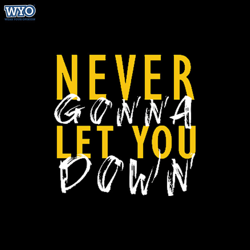 Never Let You Down Women Tshirt
