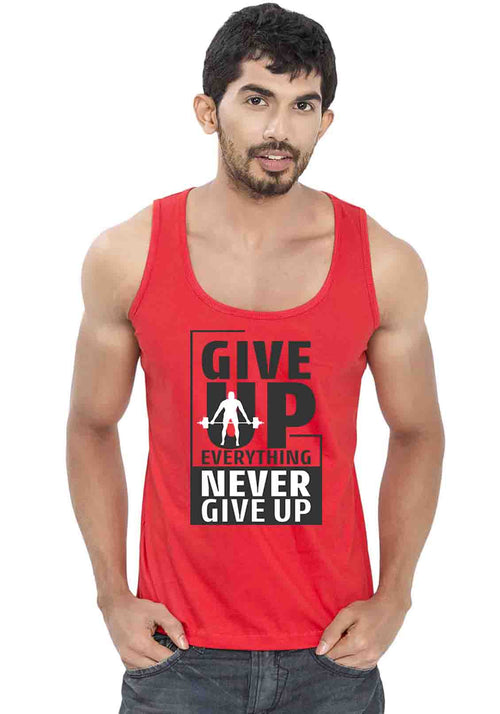 Give Everything Sleeveless T-Shirt - Wear Your Opinion - WYO.in  - 2