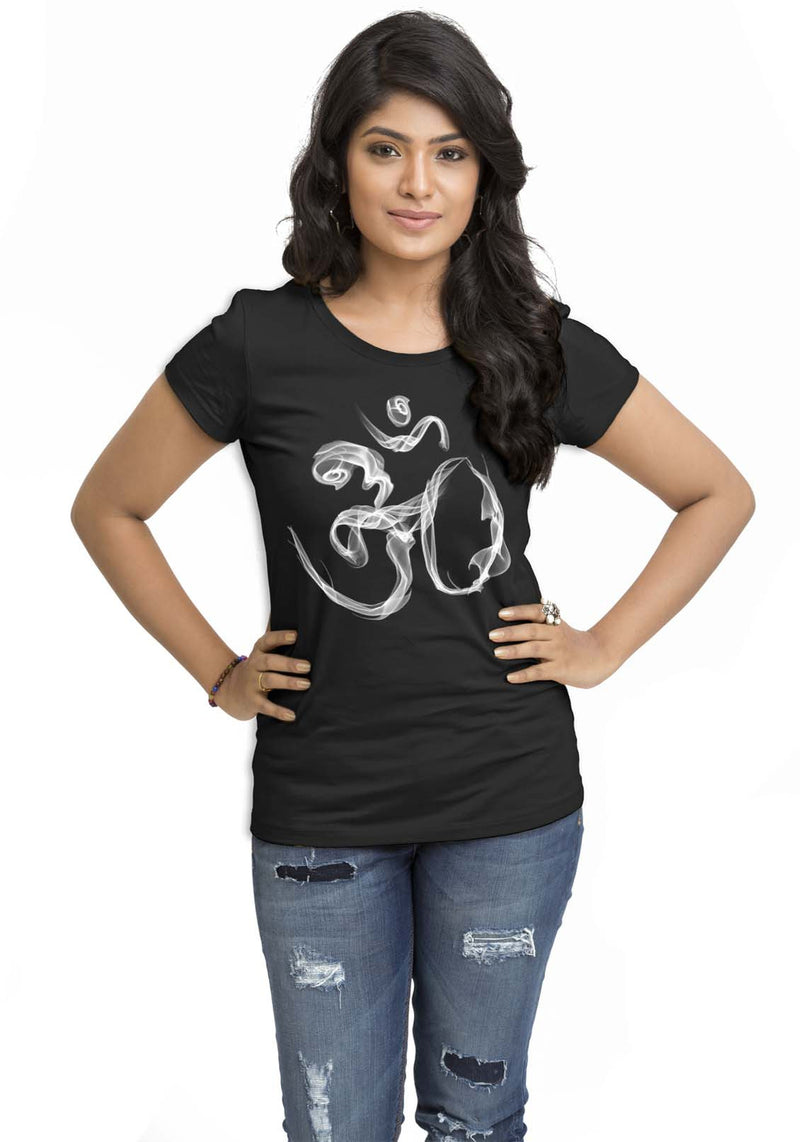 Om Smoke Womens TShirt - Wear Your Opinion - WYO.in  - 1