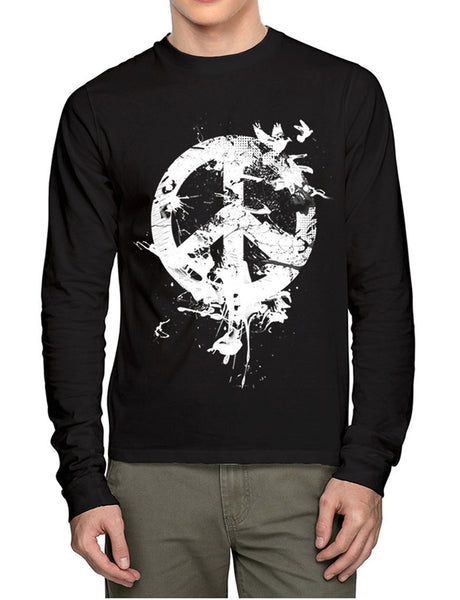 Peace Bird Full Sleeves T-Shirt - Wear Your Opinion - WYO.in  - 1