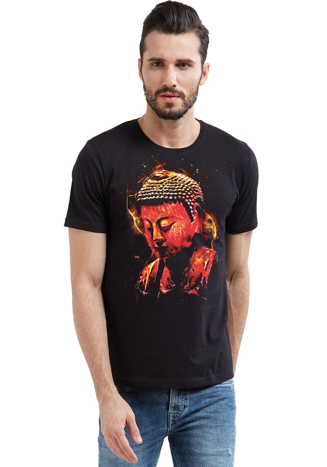 10071db45a5d0d Men's Round Neck Spiritual Collections|Printed With Cool & Funny tees|Online  India|WYO – Wear Your Opinion - WYO.in