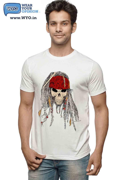Pirate Skull T-Shirt - Wear Your Opinion - WYO.in  - 2