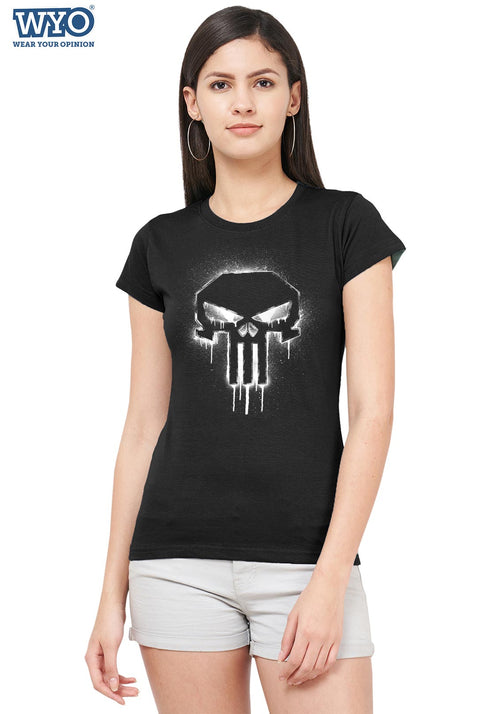 Spray Gun Punisher Women Tshirt