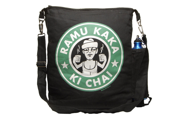 Ramu Kaka Ki Chai Sling Bag - Wear Your Opinion - WYO.in  - 1