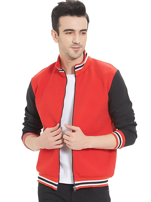 Red Black Zipper Jacket