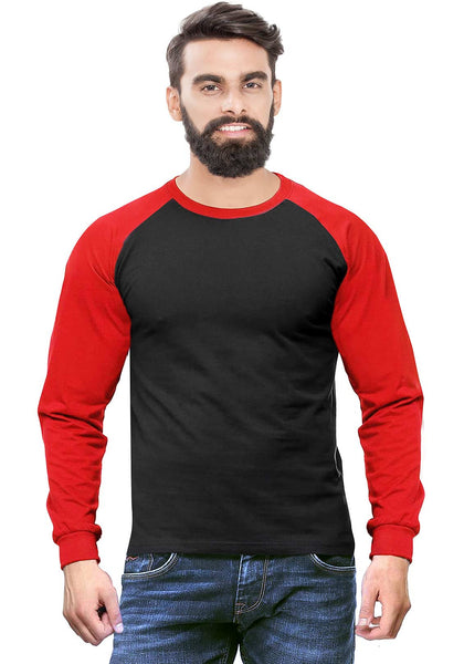 Red - Black Raglan Full Sleeve