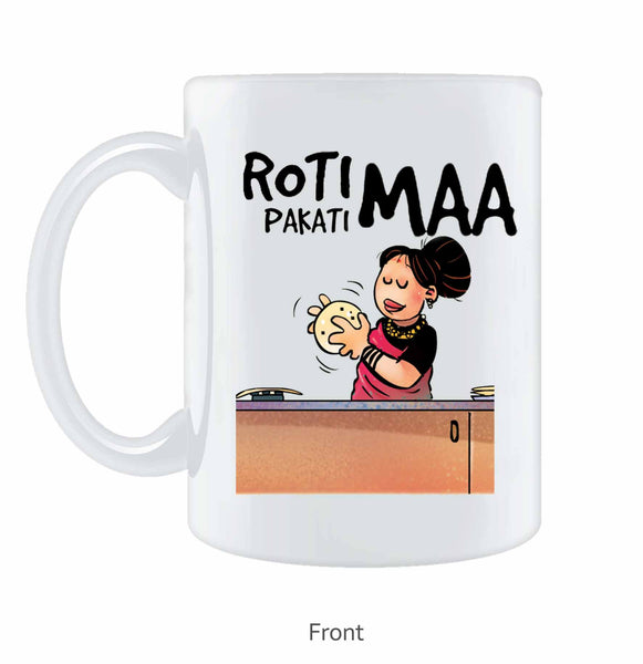 Roti Pakati Maa Coffee Mug - Wear Your Opinion - WYO.in  - 1