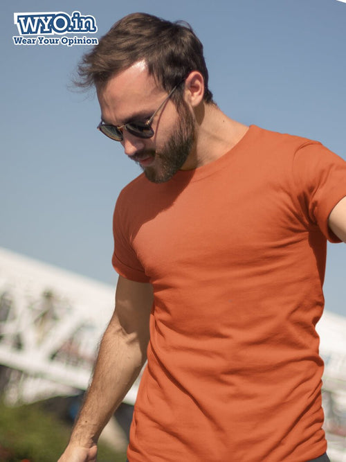 Plain Men's Tshirt - Rust