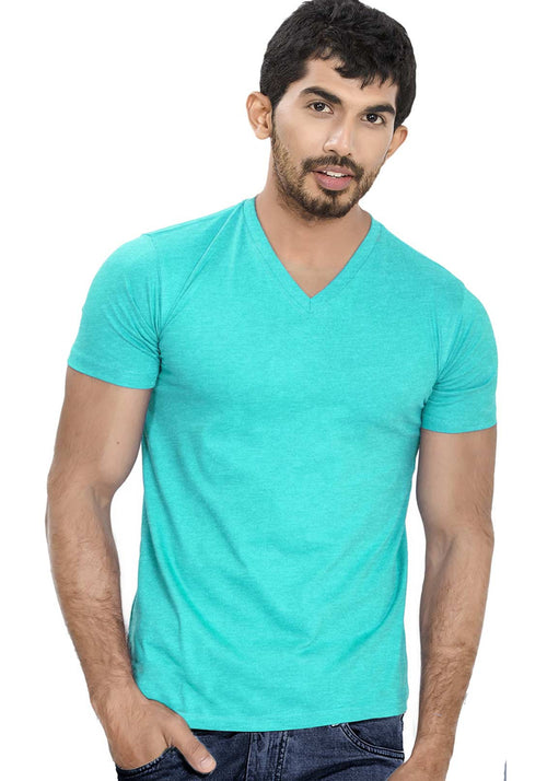 Scuba V Neck Plain T-Shirt