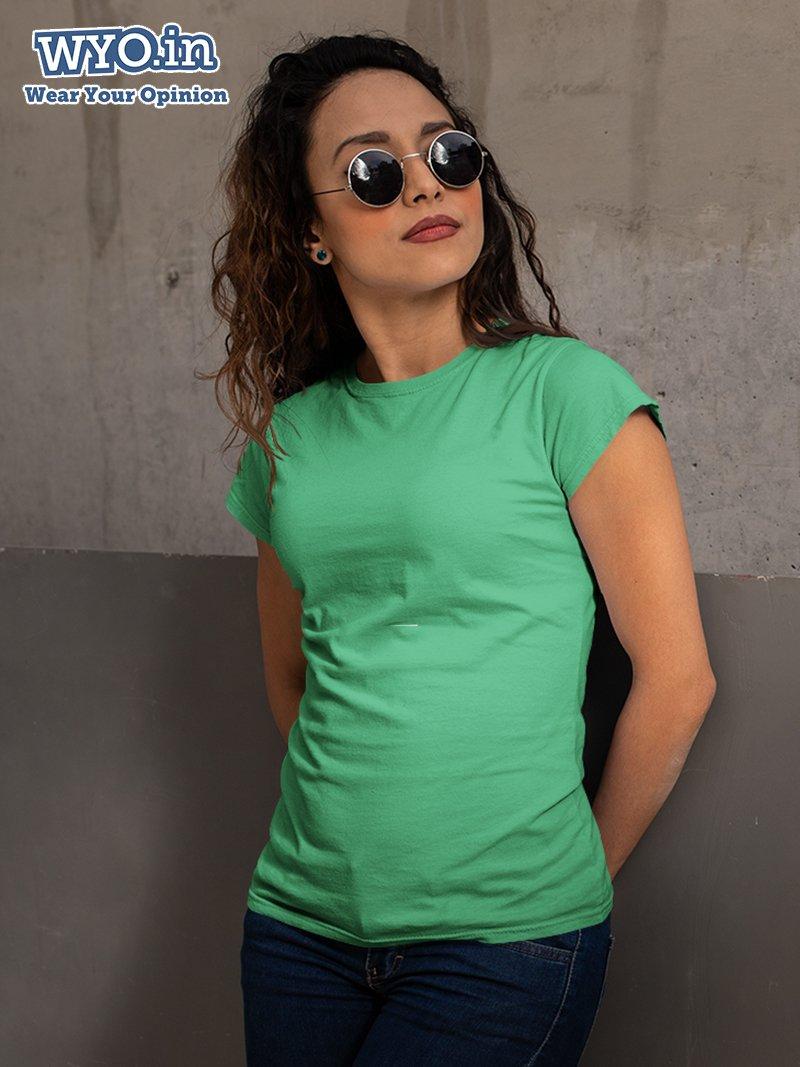 Plain Women's Tshirt - Sea Green
