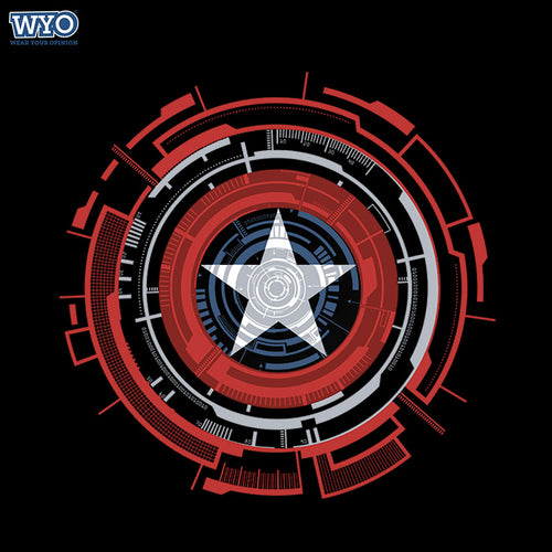 Technical Shield Captain America T-Shirt