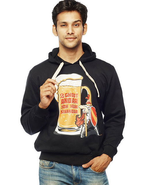 Sikander Front Print Sweatshirt - Wear Your Opinion - WYO.in  - 1