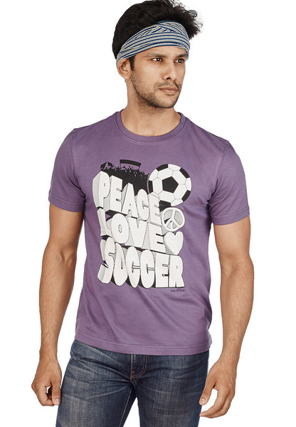 Peace Love Soccer For Football Fans T-Shirt - Wear Your Opinion - WYO.in  - 2