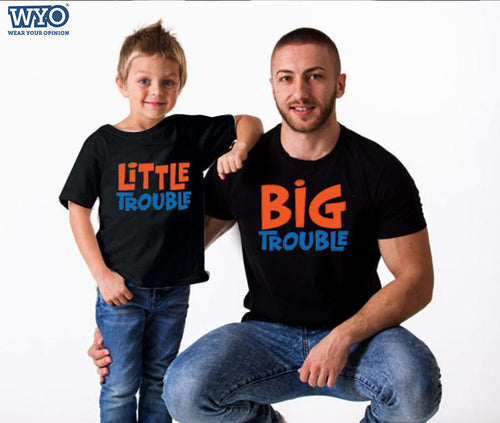 Trouble - Father And Son T-Shirt