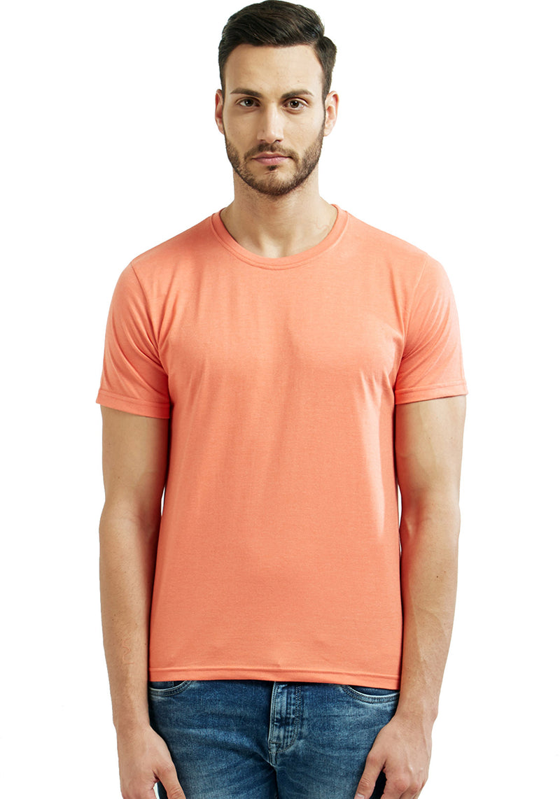 Plain Men's Tshirt - Peach