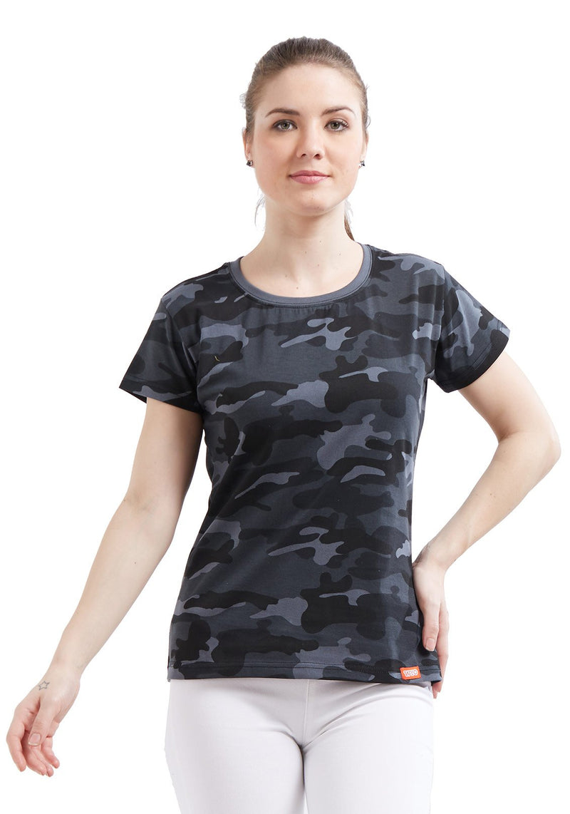 Plain Women's Tshirt - Grey Camo