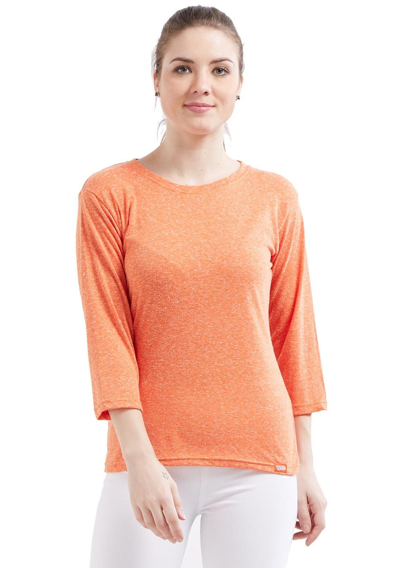 Naps Yarn Women's 3/4 Sleeve - L Orange