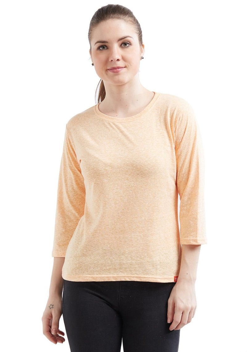 Naps Yarn Women's 3/4 Sleeve - Lemon