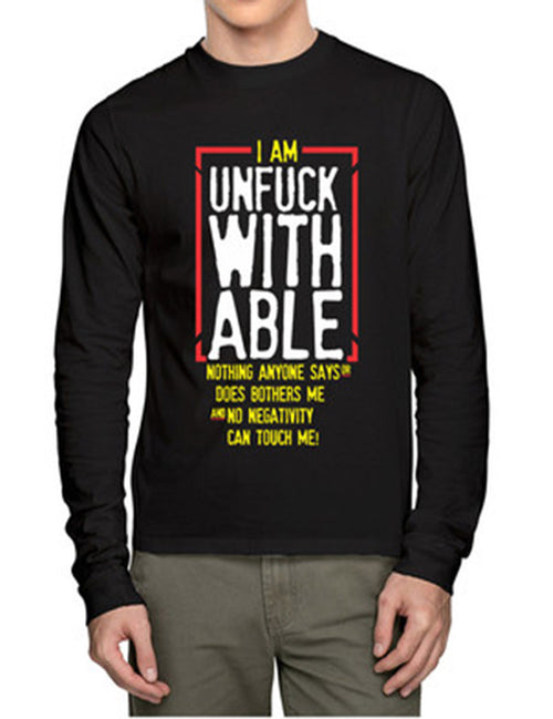 Un Fuck With Able Full Sleeves T-Shirt - Wear Your Opinion - WYO.in  - 1