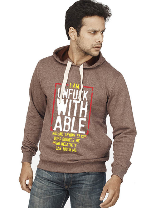 Unfuckable Front Print Sweatshirt - Wear Your Opinion - WYO.in
