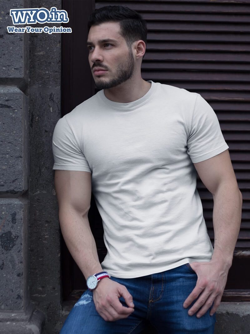 Plain Men's Tshirt - White