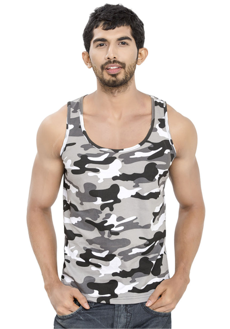 Plain Tanks - White Camo