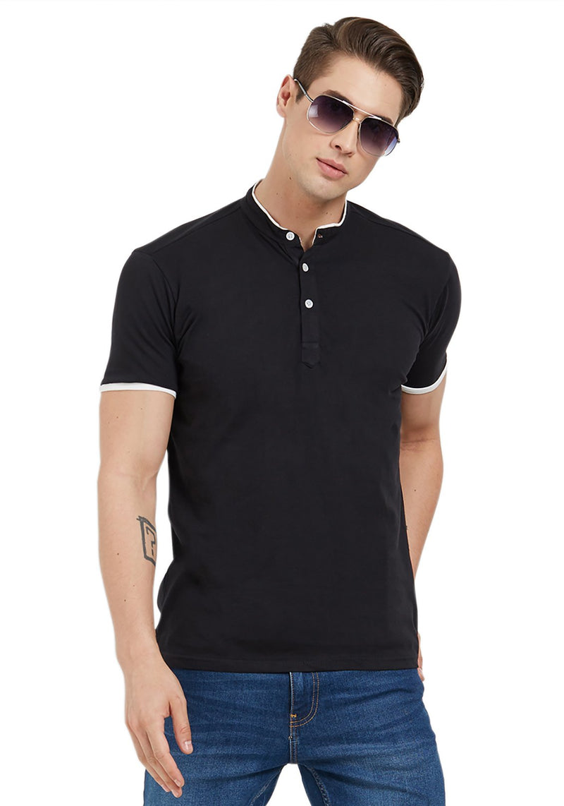 Basic Henley - Black
