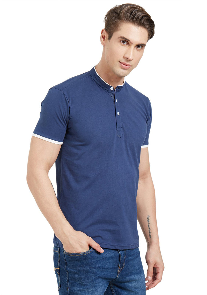Basic Henley - Navy