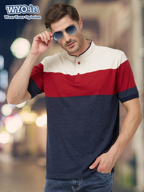 Colour Block Stripe Henley