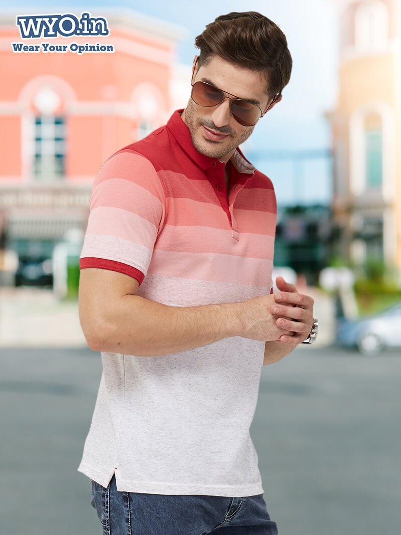 Ombre Stripes Polo