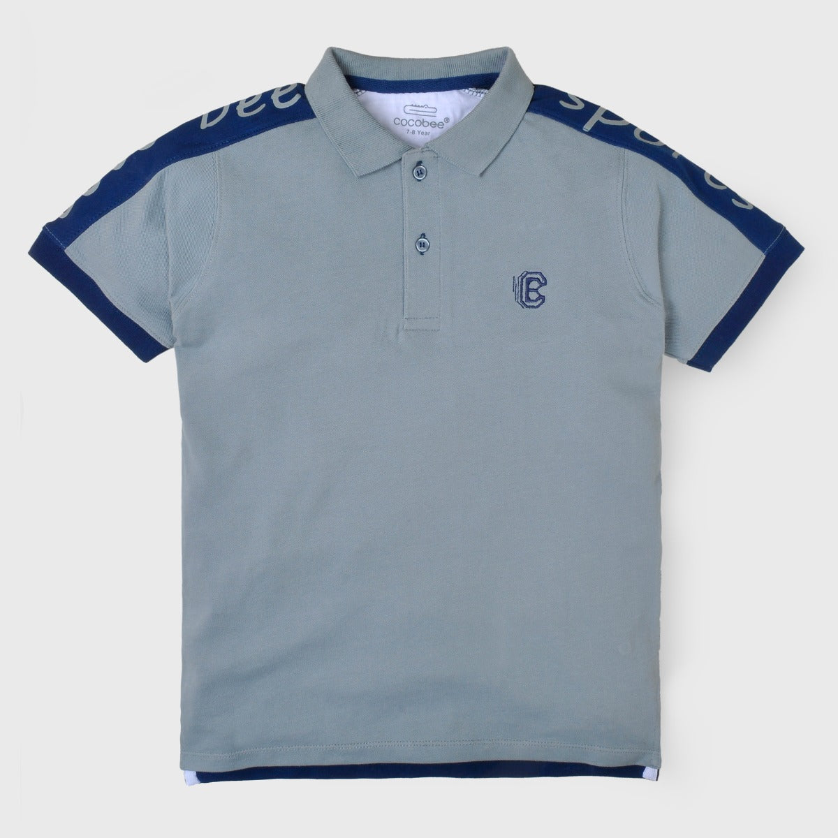 Grey Sports Polo Shirt