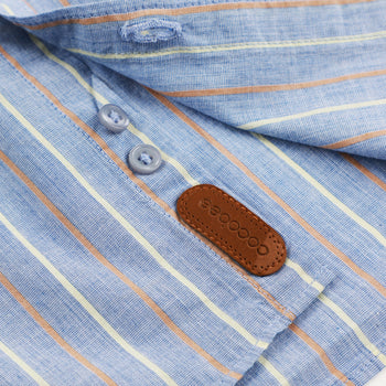 Thin Brown Striped Shirt