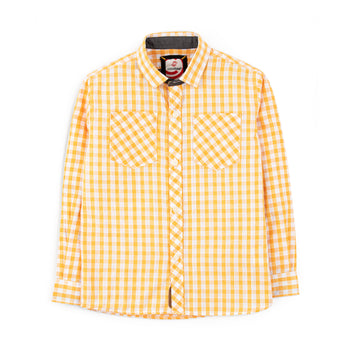 Mustard Checkered Shirt