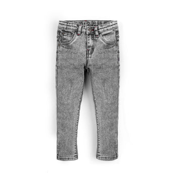 Grey Texture Jeans