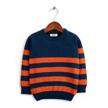 Orange Stripe Sweater
