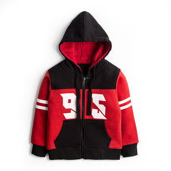 Red Numbered Hoodie