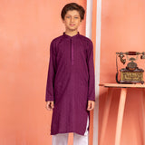 Deep Purple Kurta