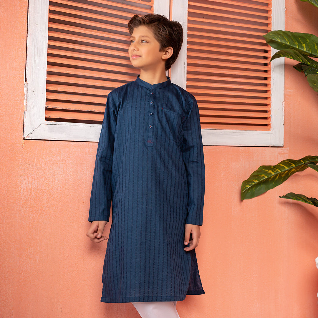 Prussian Blue Kurta