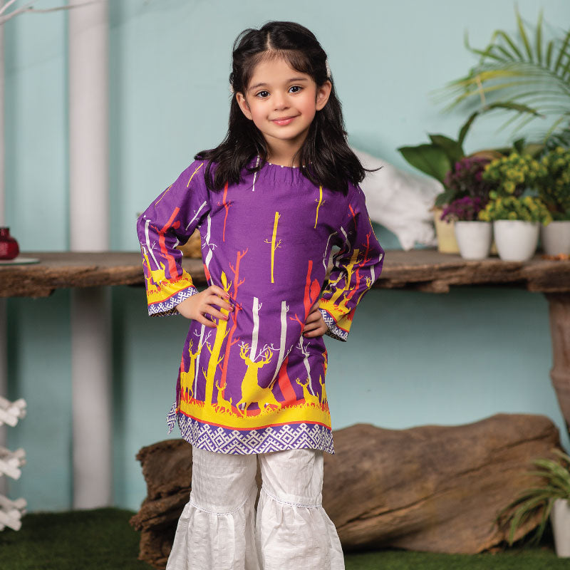 Purple Forest Kurti