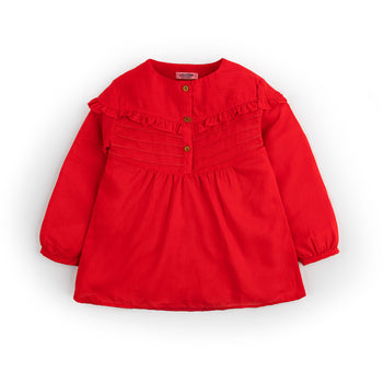 Scarlet Frilled Top