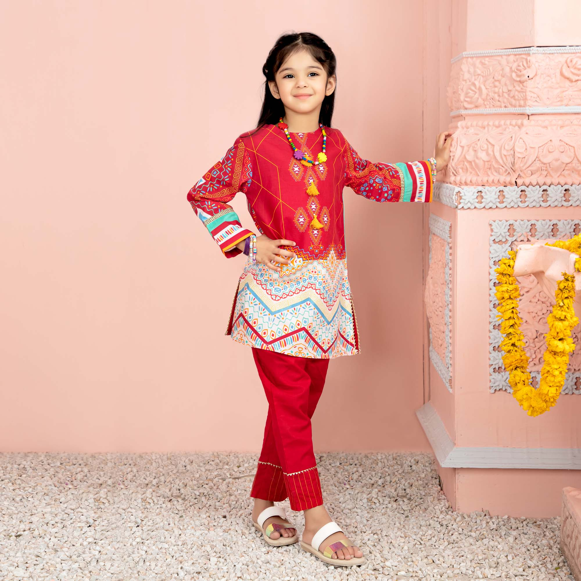 Multi Girls 2Pcs Suit