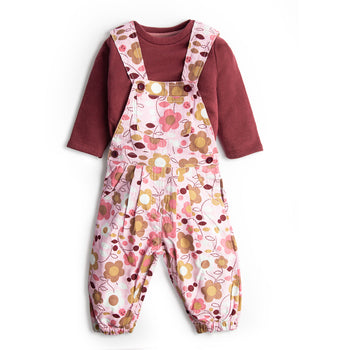 Maroon Overall Set