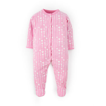 Pink Heart Sleepsuit