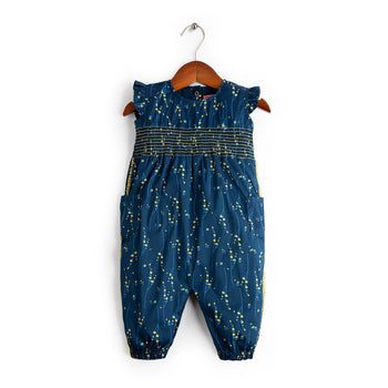 Blue Printed Romper