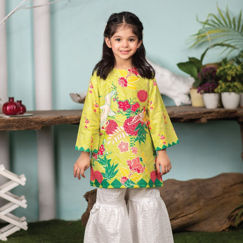 Yellow Bird Kurti