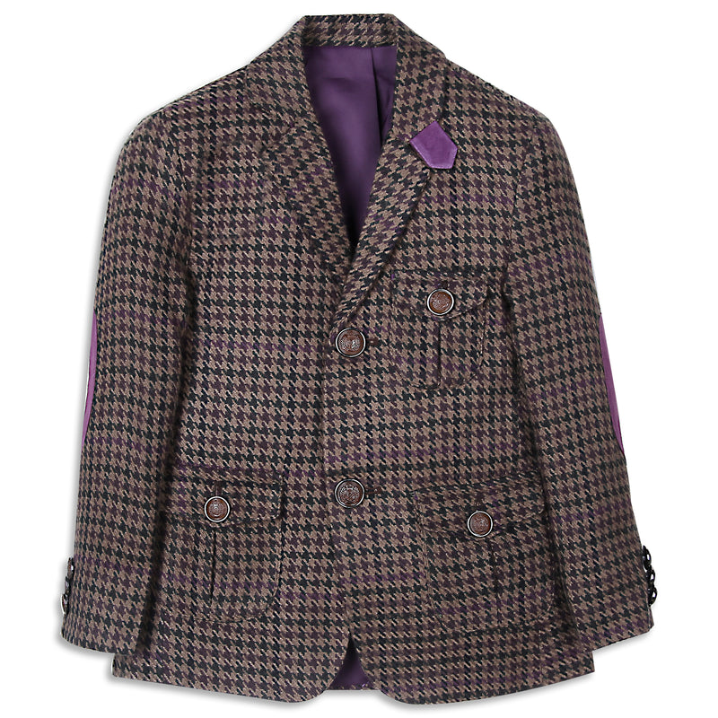 Plaid Brown Coat