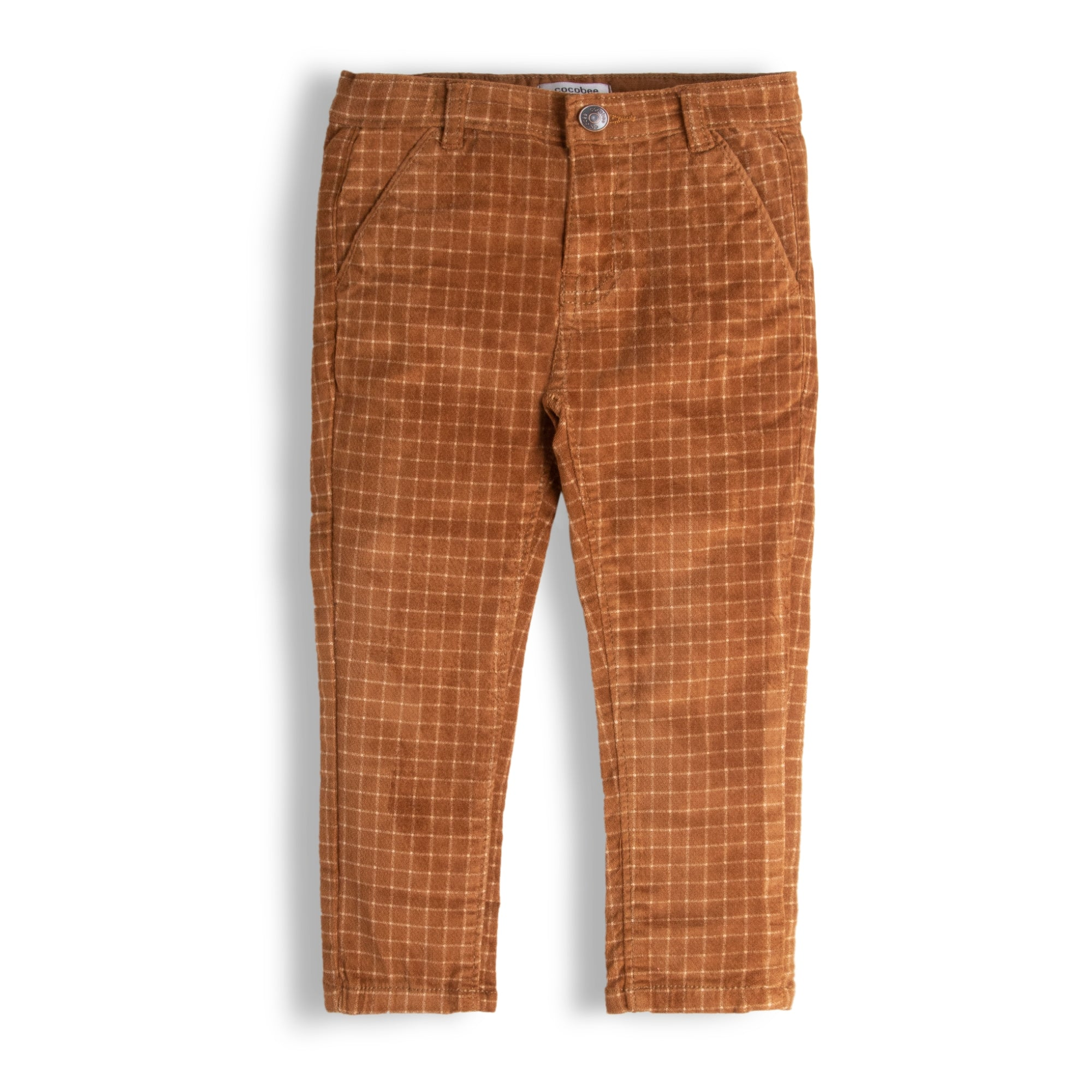 Brown Check Pants