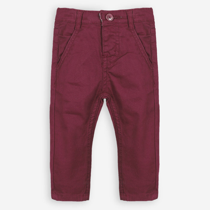 Currant Red Cotton Pant
